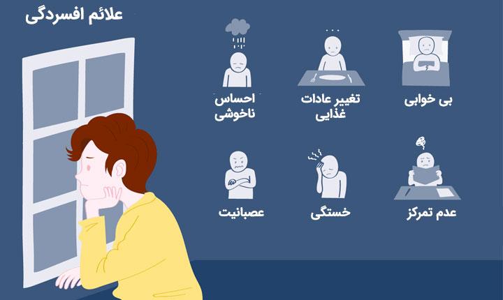 شایع ترین علائم افسردگی شدید